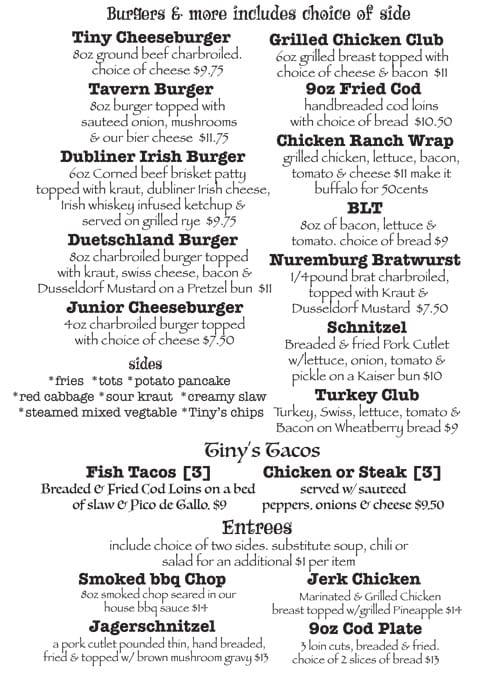 Burgers, Sides, Tacos, and Entrees Menu in Columbia IL