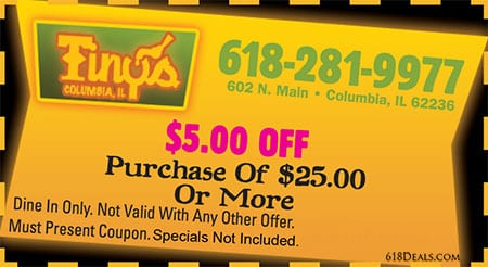 Coupon for $5 off of purchase of $25 or more Coupon